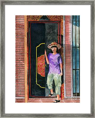 Framed Print featuring the painting At Puri Kelapa by Melly Terpening