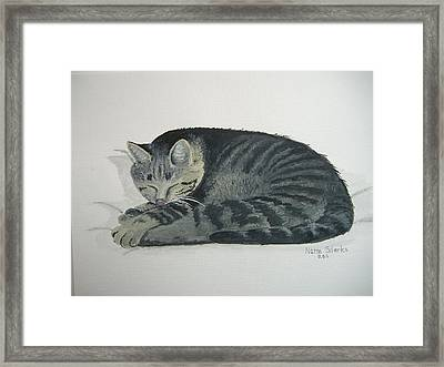 Framed Print featuring the painting At Rest by Norm Starks