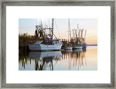 At Rest - Shem Creek Framed Print