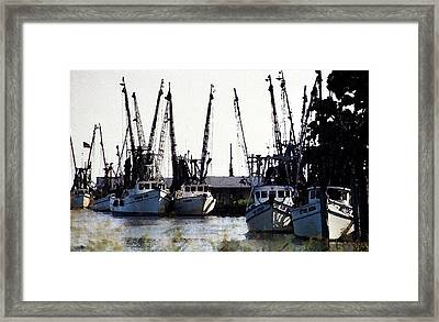 At Rest Watercolor Framed Print by Michael Morrison
