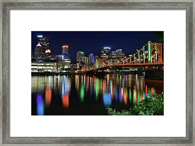 At Rivers Edge In Pittsburgh Framed Print by Frozen in Time Fine Art Photography