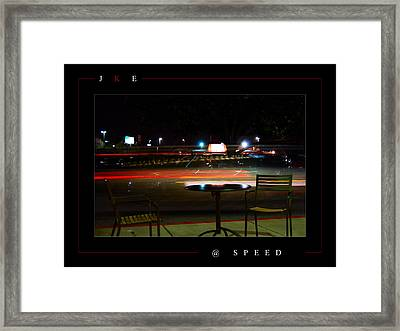 At Speed Framed Print by Jonathan Ellis Keys