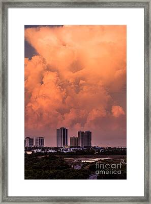 At Sunset In West Palm Beach Framed Print