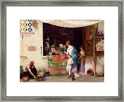 At The Antiquarian Framed Print