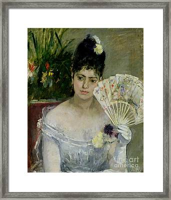 At The Ball Framed Print by Berthe Morisot