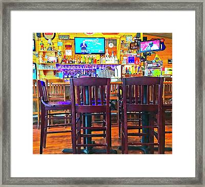 At The Bar Framed Print