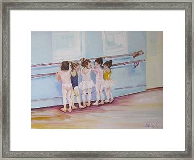 Framed Print featuring the painting At The Barre by Julie Todd-Cundiff