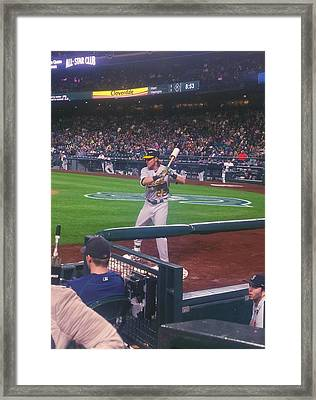 At The Bat Framed Print