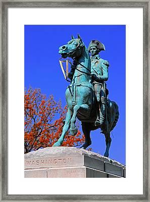 At The Battle Of Princeton Framed Print