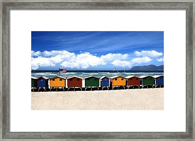 Framed Print featuring the photograph At The Beach by David Dehner