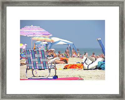 At The Beach Framed Print by JAMART Photography
