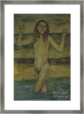 At The Beach Framed Print by Neil Trapp