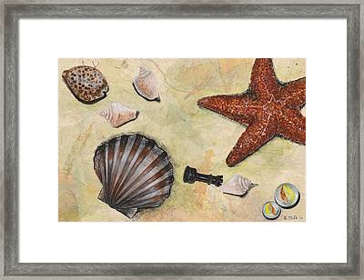 At The Beach Framed Print by Sandy Clift