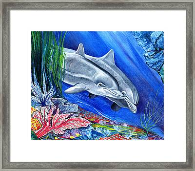 At The Bottom Of The Sea Framed Print by John Keaton
