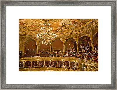 At The Budapest Opera Framed Print