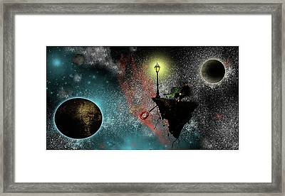 At The Bus Stop Framed Print by Jonathan Baldock