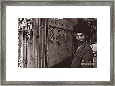 Butcher Shop, Iran 1977 Framed Print