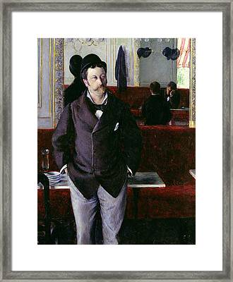 At The Cafe Rouen Framed Print