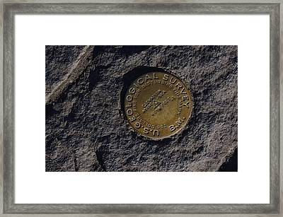 At The Caldera Framed Print