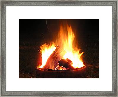 At The Campfire Framed Print by Richard Mitchell
