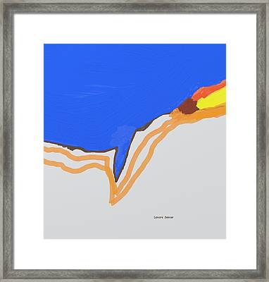 At The Canyon Edge Framed Print