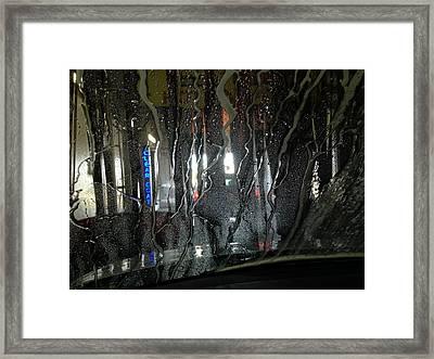 At The Car Wash 3 Framed Print