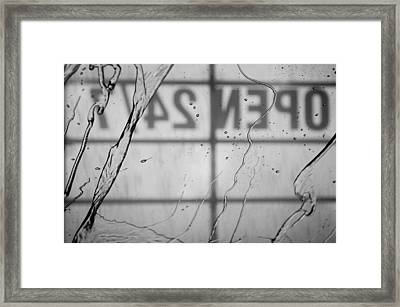 At The Car Wash Framed Print by Colleen Coccia