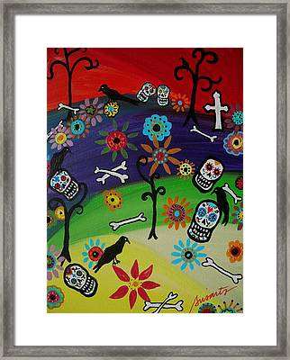At The Cemetery Framed Print by Pristine Cartera Turkus