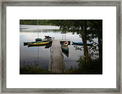At The Country Dock Framed Print by Dennis Curry