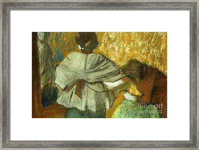 At The Couturier, The Fitting Framed Print