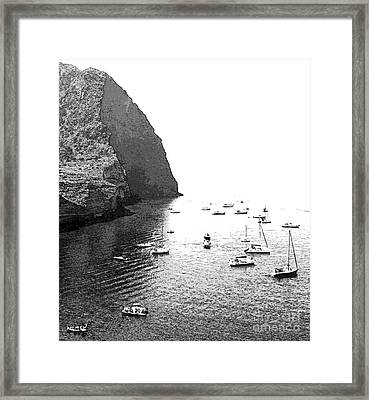 At The Crater Framed Print by Ayesha DeLorenzo
