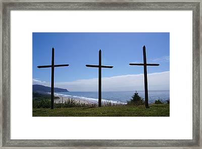 At The Cross Framed Print by Angi Parks
