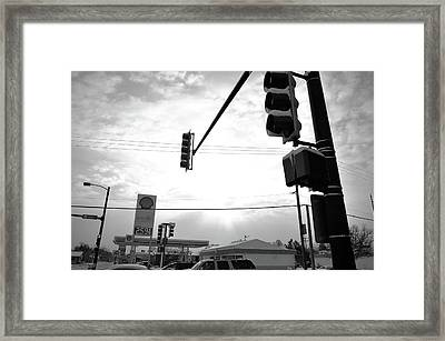 At The Crossing Framed Print