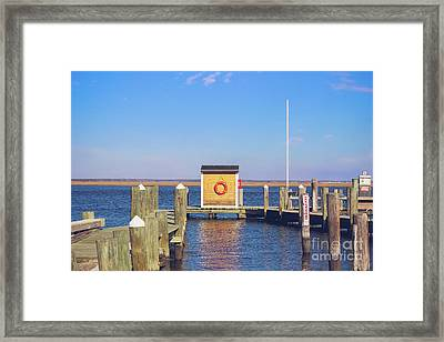 At The Dock Framed Print by Colleen Kammerer