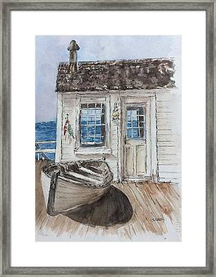 At The Dock Framed Print by Stephanie Sodel