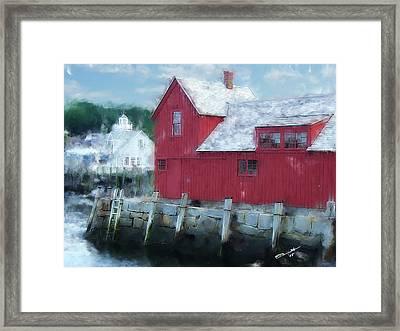 At The Docks Framed Print by Eddie Durrett