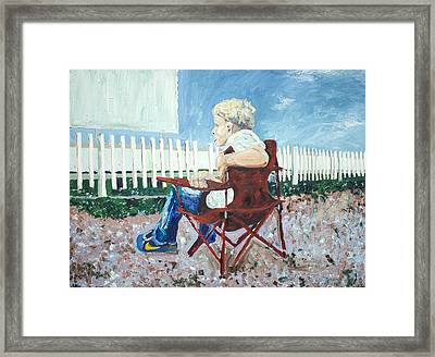 At The Drive-in Framed Print by Steve Hartman