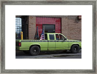At The Drive Through Framed Print by Suzanne Gaff