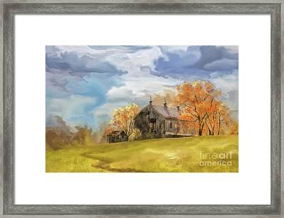 At The Edge Of Antietam Framed Print