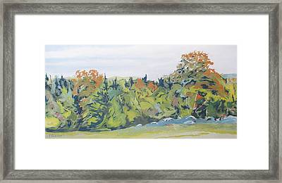 At The Edge Of Fall Framed Print