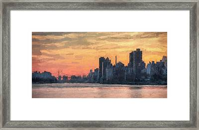 At The Edge Of Night Framed Print by JC Findley