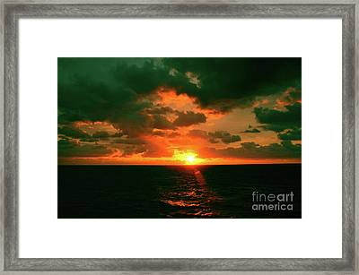 At The Edge Of Night Framed Print by Robyn King