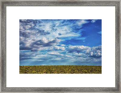 At The Edge Of Terra Firma Framed Print