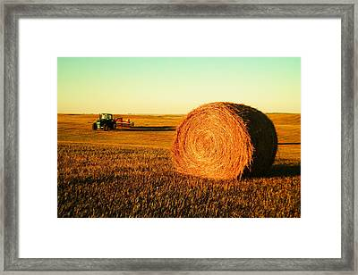 At The End Of Day Framed Print