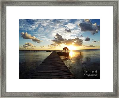 At The End Of Paradise Framed Print