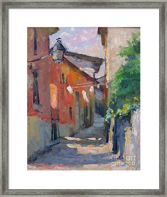 At The End Of The Alley Framed Print