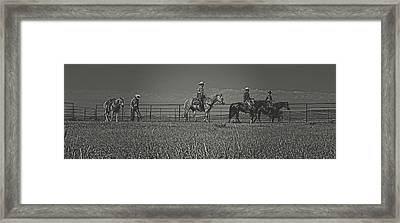 At The End Of The Day Framed Print by Amanda Smith