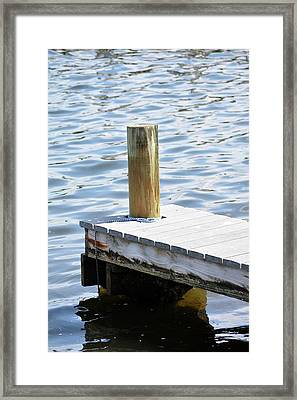 At The End Of The Dock Framed Print by Tamra Lockard