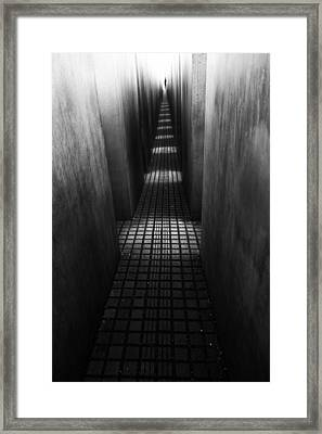 At The End Of The Path Framed Print by Christian Muller