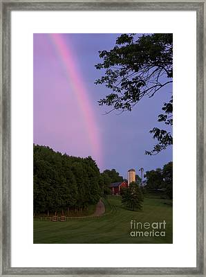 At The End Of The Rainbow Framed Print by Nicki McManus